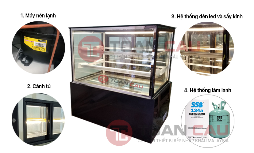 Khi mua tủ trưng bày bánh kem bạn cần quan tâm bộ phận nào?