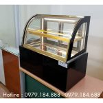 Tủ trưng bày bánh kem mini cho bán cafe
