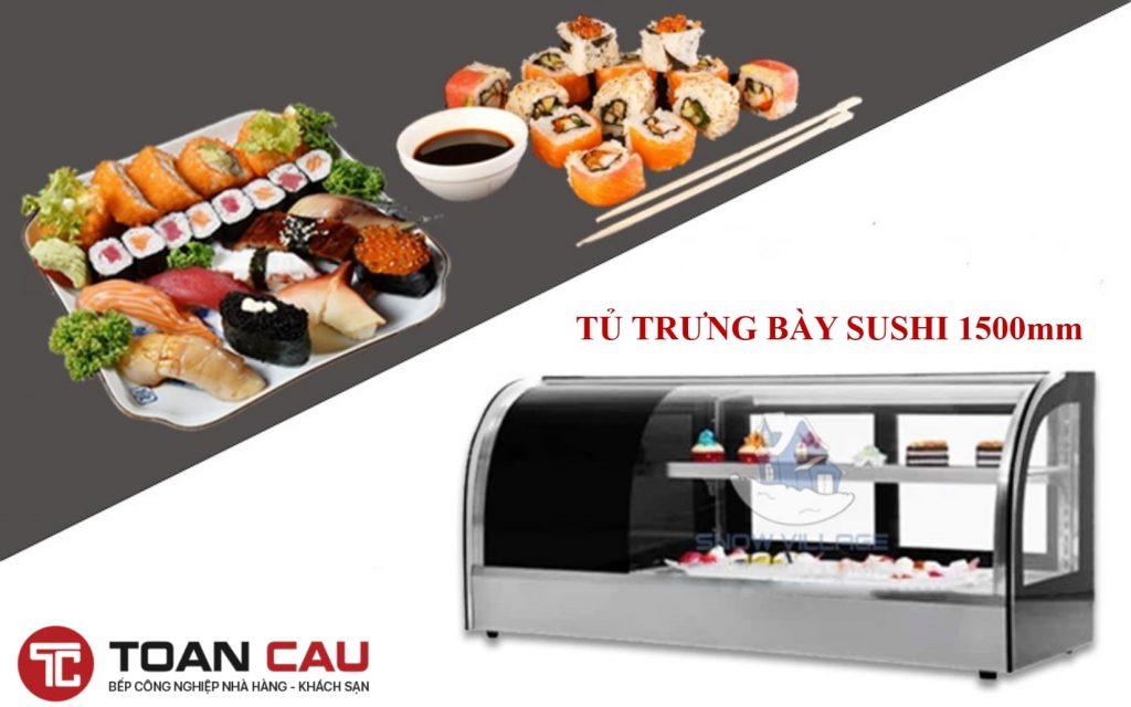 Tủ trưng bày sushi đẹp