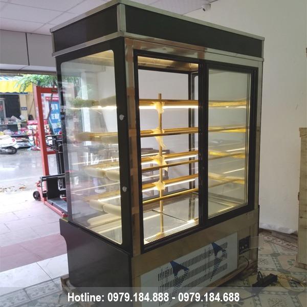 Tủ bánh kem kính vuông 5 tầng