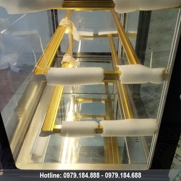 Tủ bánh kem kính vuông 5 tầng nhập khẩu