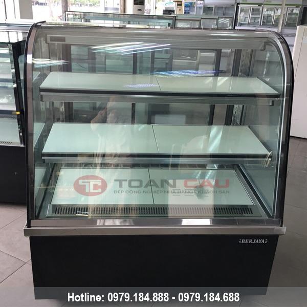 Tủ trưng bày bánh kem kính cong Berjaya 1m2 CCS12SB13-2FB