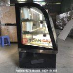 Tủ trưng bày bánh kem kính cong màu đen BERJAYA CKE 4SCSB