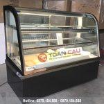 Tủ trưng bày bánh kem kính cong màu đen BERJAYA CKE 5SCSB