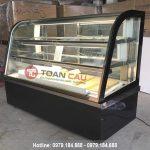 Tủ trưng bày bánh kem kính cong màu đen BERJAYA CKE 8SCSB