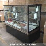 Tủ trưng bày bánh kem kính vuông Berjaya 1m5